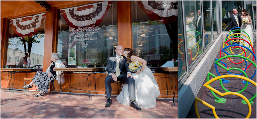 Wedding Portraits Downtown Columbus, Indiana