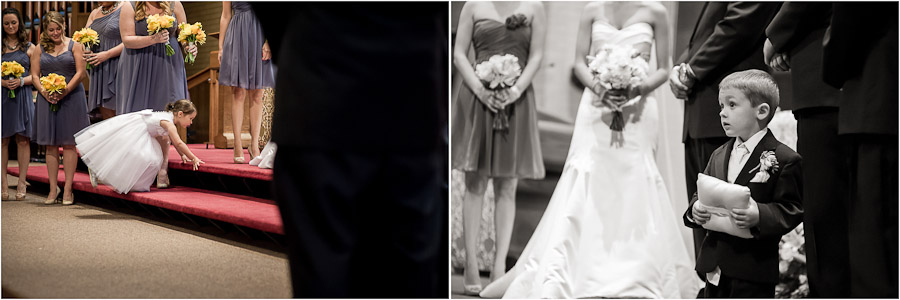 Funny wedding moments at St. Matthew's Indianapolis