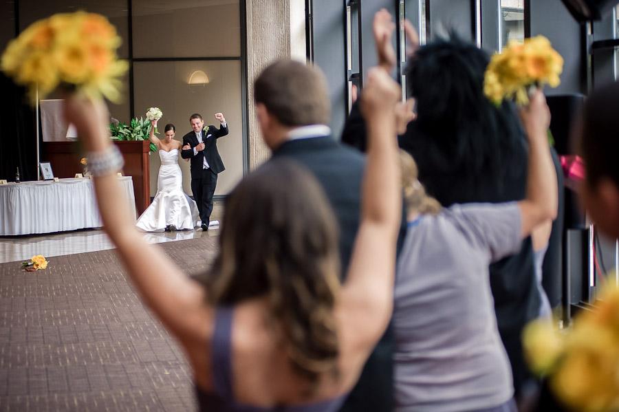 Awesome wedding entrance