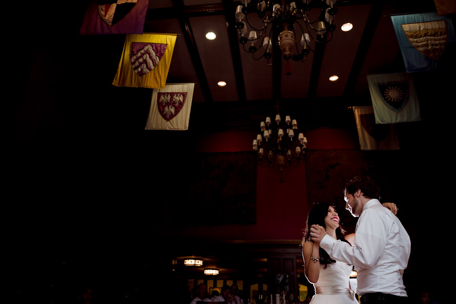 Indiana University Memorial Union Wedding First Dance Tudor Room