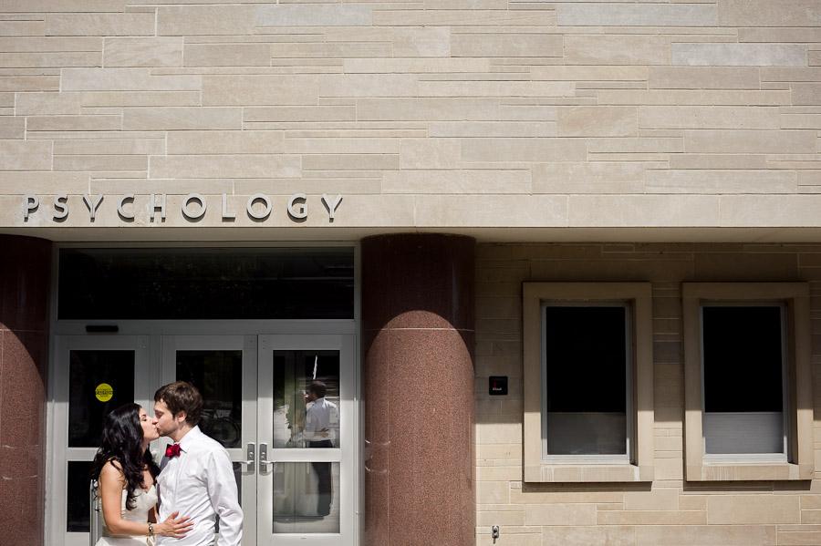 Psychology Building Indiana University Wedding Photo