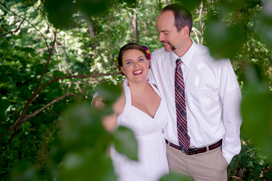 Bride and Groom at Scenic View Lodge
