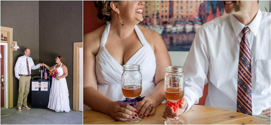 Beer-Themed Wedding Details