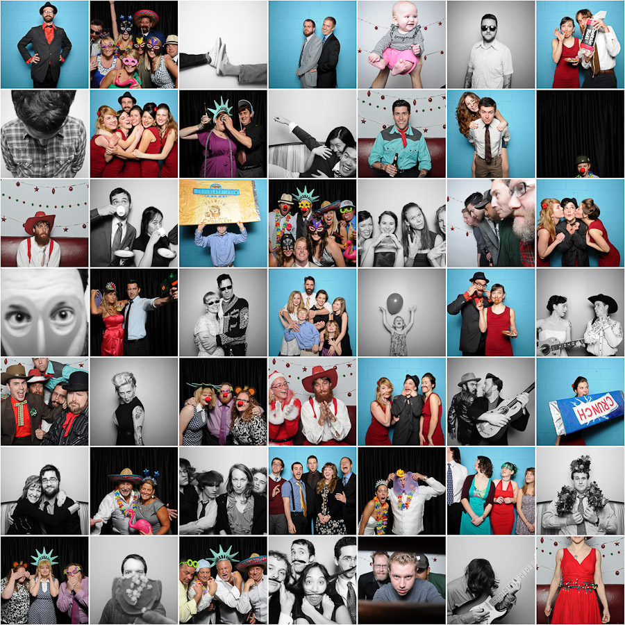 Wedding and Event Photobooth Collage Bloomington Indiana
