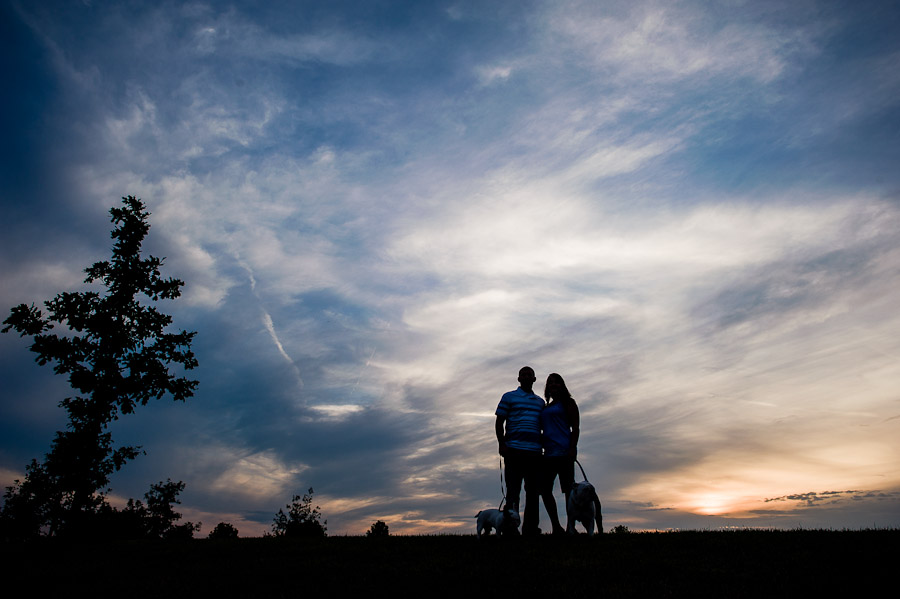 Beautiful Engagement Photos at White River State Park, Indianapolis, Indiana