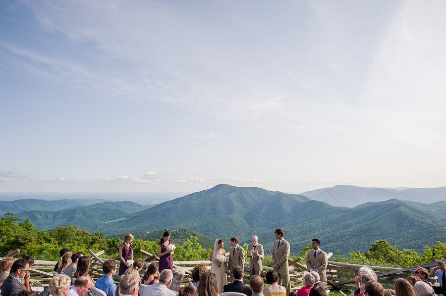Wintergreen Wedding Photography Mountaintop Location