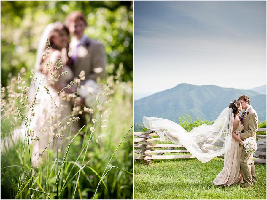 Wedding photos at Wintergreen Mountain