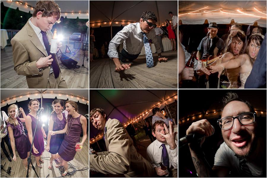 Wintergreen wedding dancing at reception