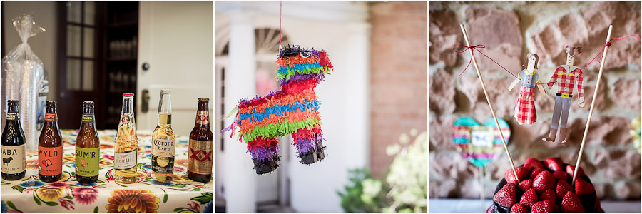 Pinatas, beer, and DIY Paper crafts for wedding