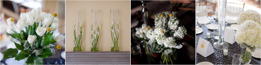 White and yellow modern and beautiful floral centerpieces and bouquets