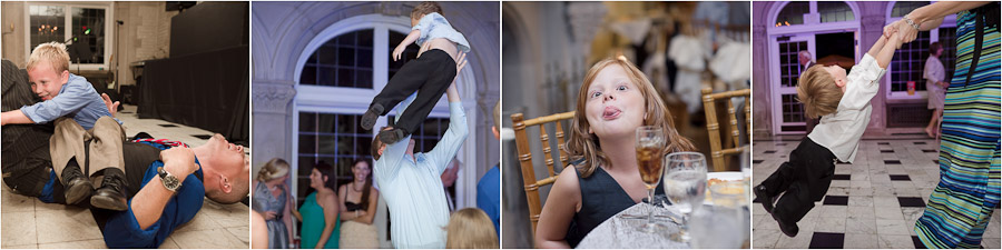 Hilarious and quirky kid photography at fun wedding at Laurel Hall