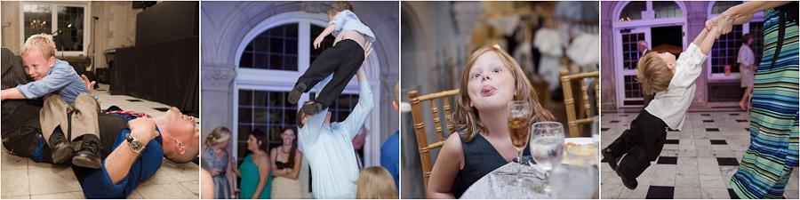 Hilarious and quirky kid photography at fun wedding at Laurel Hall