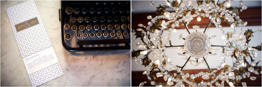 Historic, sparkly, and geometric wedding details
