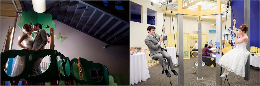 Fun Children's Museum Wedding Portraits
