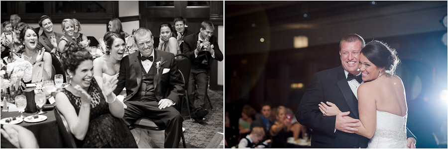 Funny photography of wedding speeches and sweet first dance
