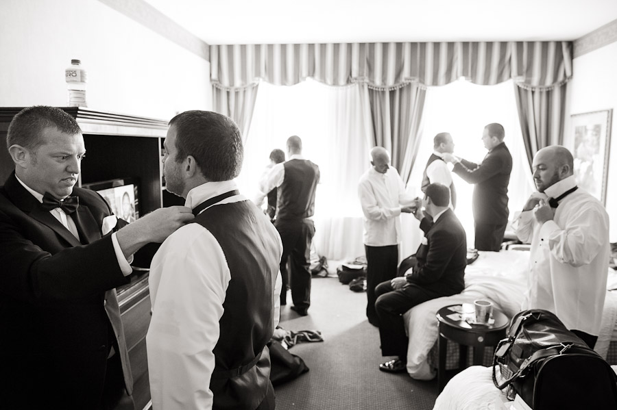 Sweet, funny, guys getting ready pre-wedding