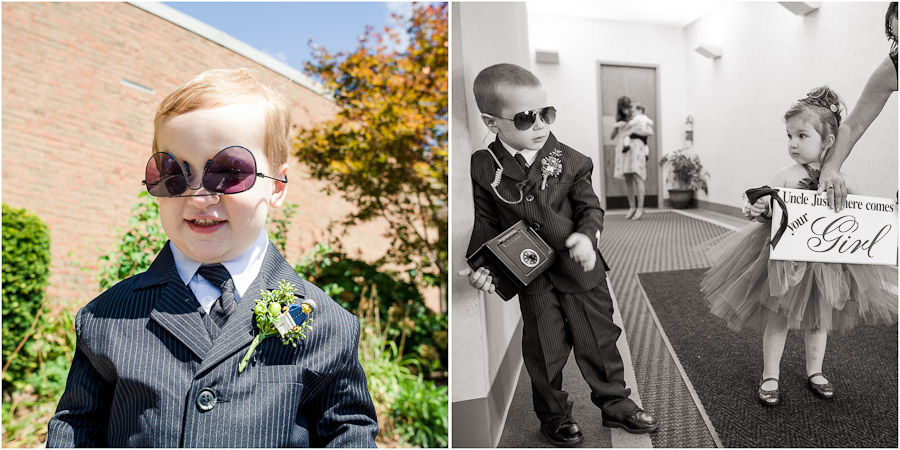 Cute and hilarious ringbearer and flower girl photos