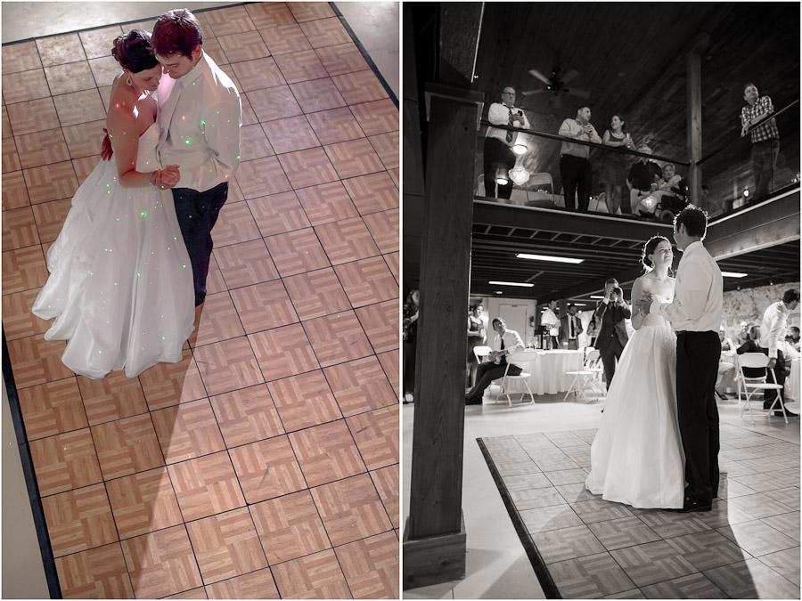 Romantic and sweet first dance at Lake Michigan wedding