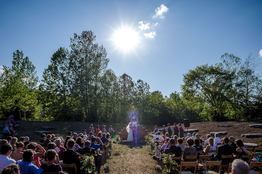 Depauw University Nature Park Ampitheater Wedding