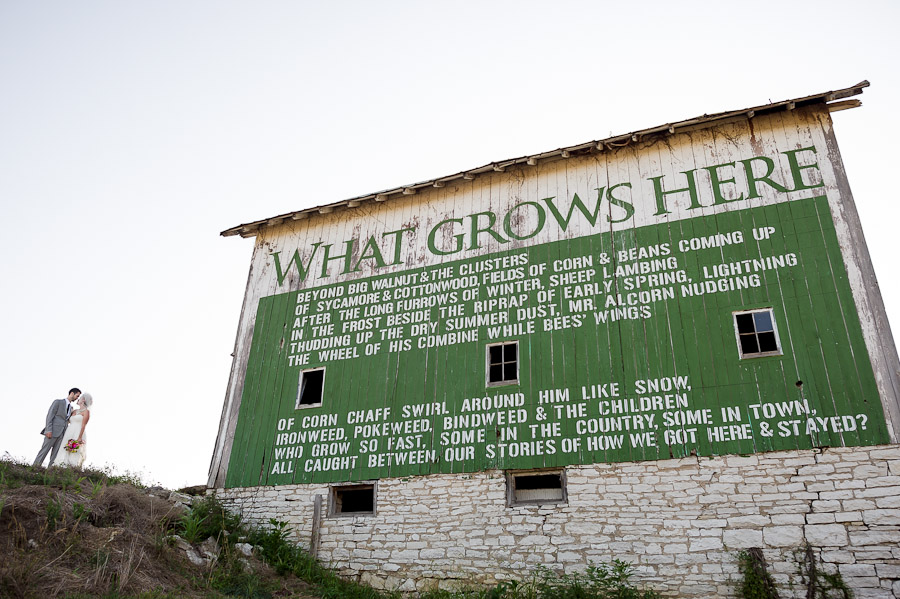 Awesome barn with a poem on it