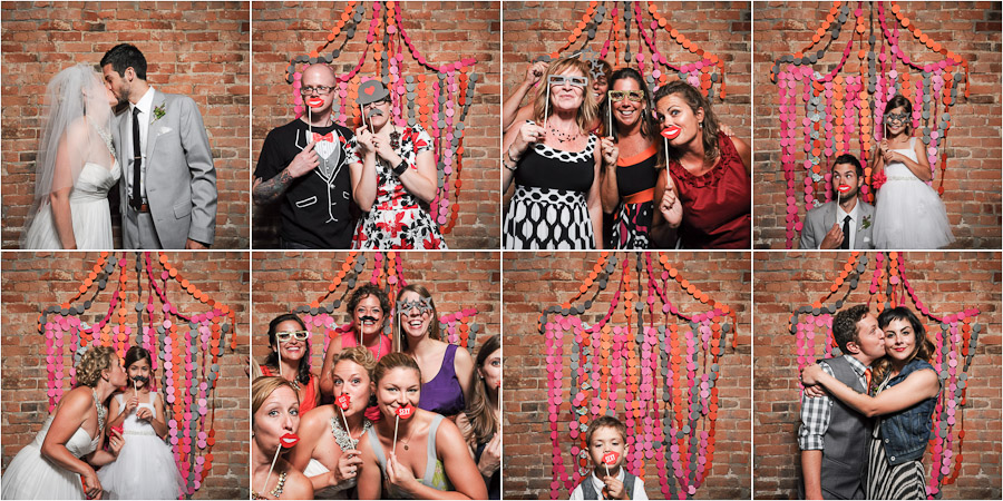 Fun wedding photobooth