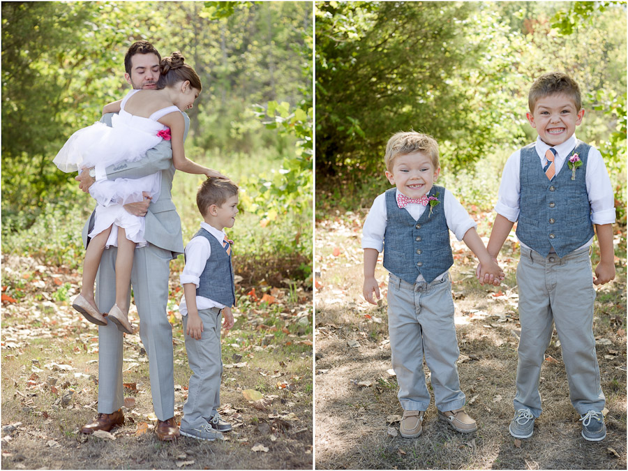 Cute kids at a wedding