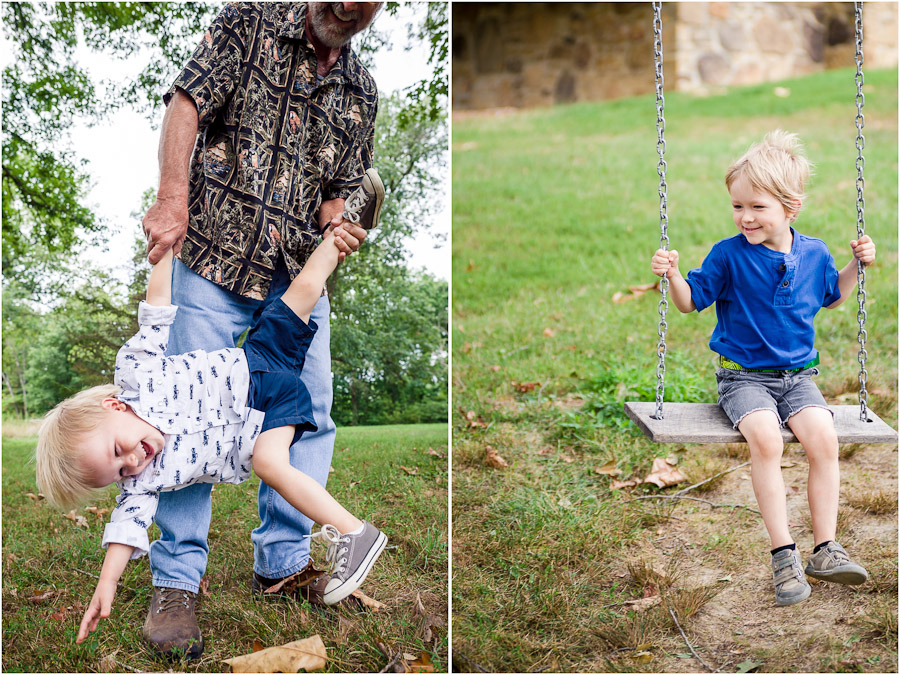 cute family photos of kid on swing