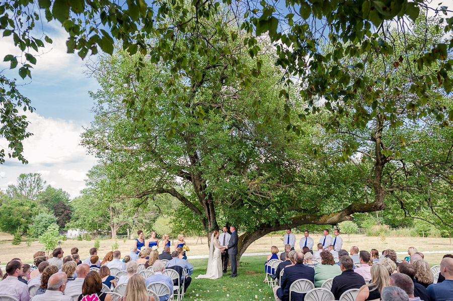 sweet outdoor ceremony in bloomington indiana