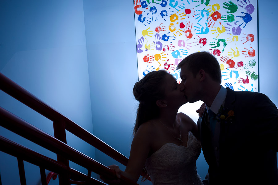 Colorful, quirky, romantic wedding photo