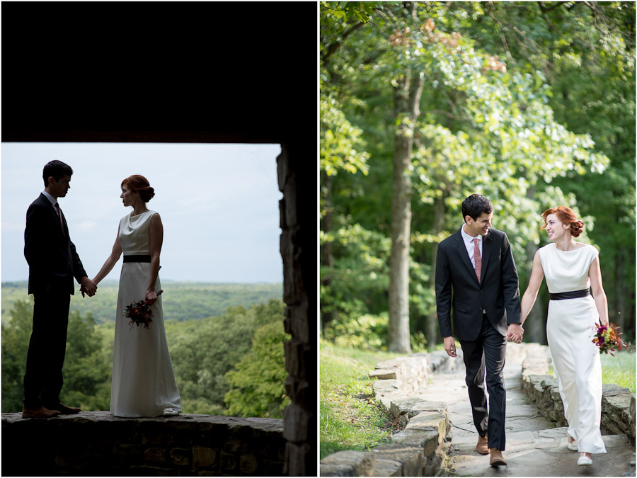 elegant and fun Mad Men style wedding in Indiana