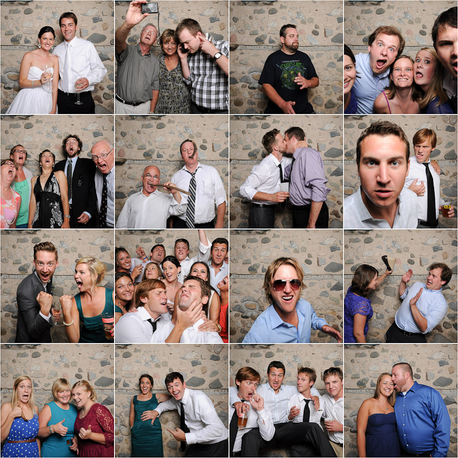 Tall and small photobooth extraordinaire! Photo booth at wedding in the midwest