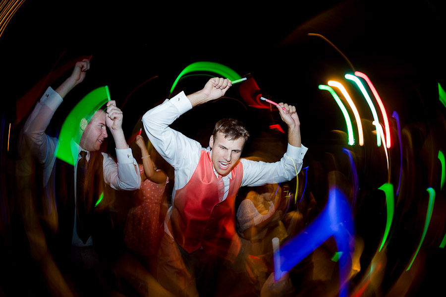 Sweet Wedding Dancing with Glow Sticks