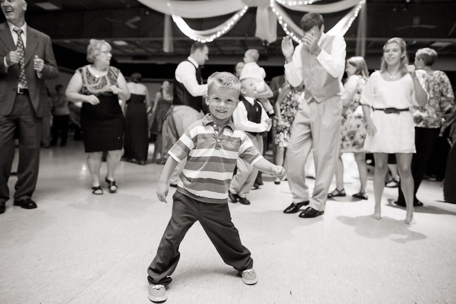 Fun Kids dancing at wedding reception