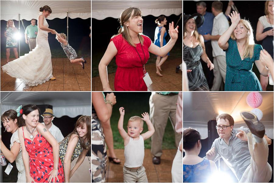 Super fun dance floor pics at Louisville wedding at Gingerwoods