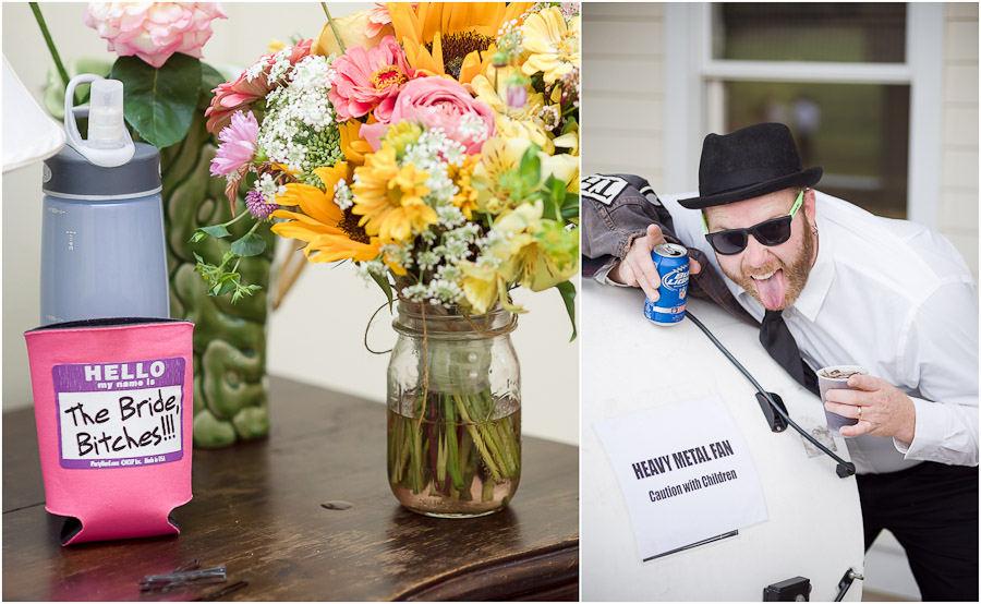 Hilarious wedding details and heavy metal sign