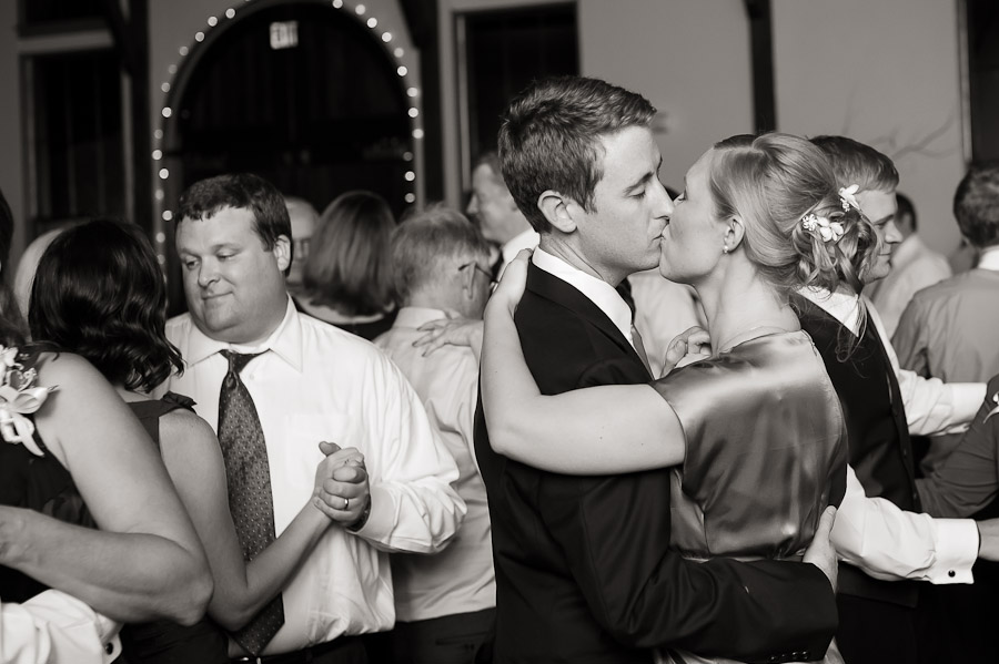 Romantic last dance kiss at southern destination wedding