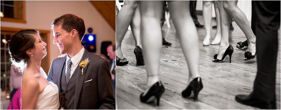 Artistic and unique dancefloor photos from Bloomington, Indiana wedding