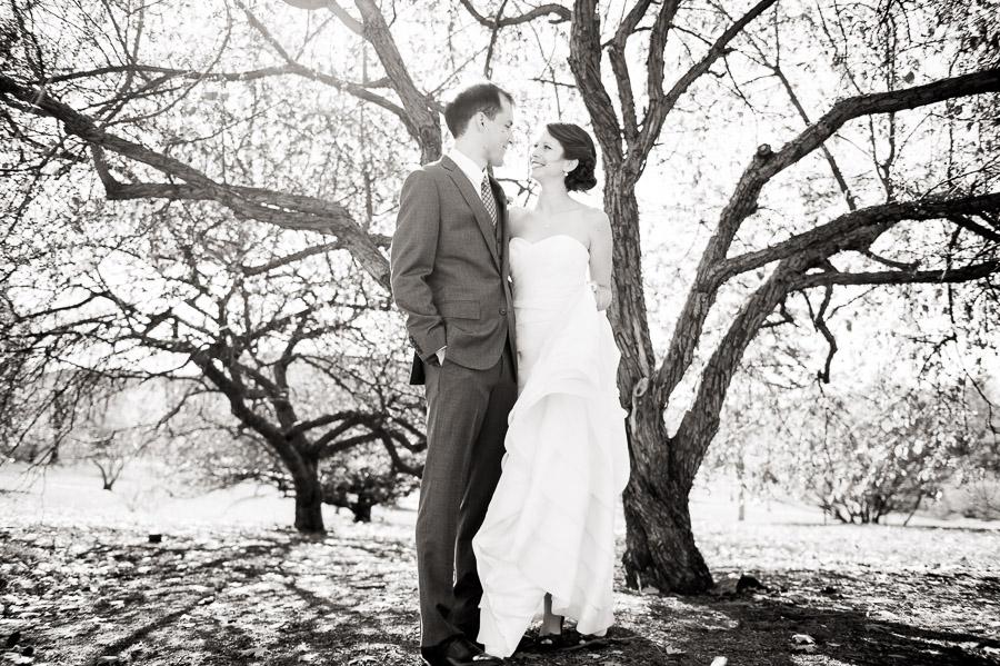 crisp and artistic wedding photo from Bloomington, Indiana wedding