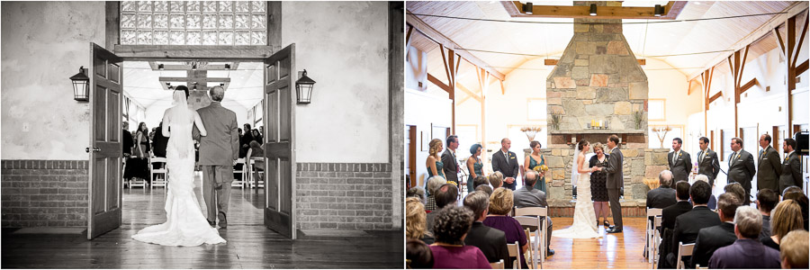 Beautiful ceremony photos from sweet, laid-back wedding at The Fields in Bloomington, IN