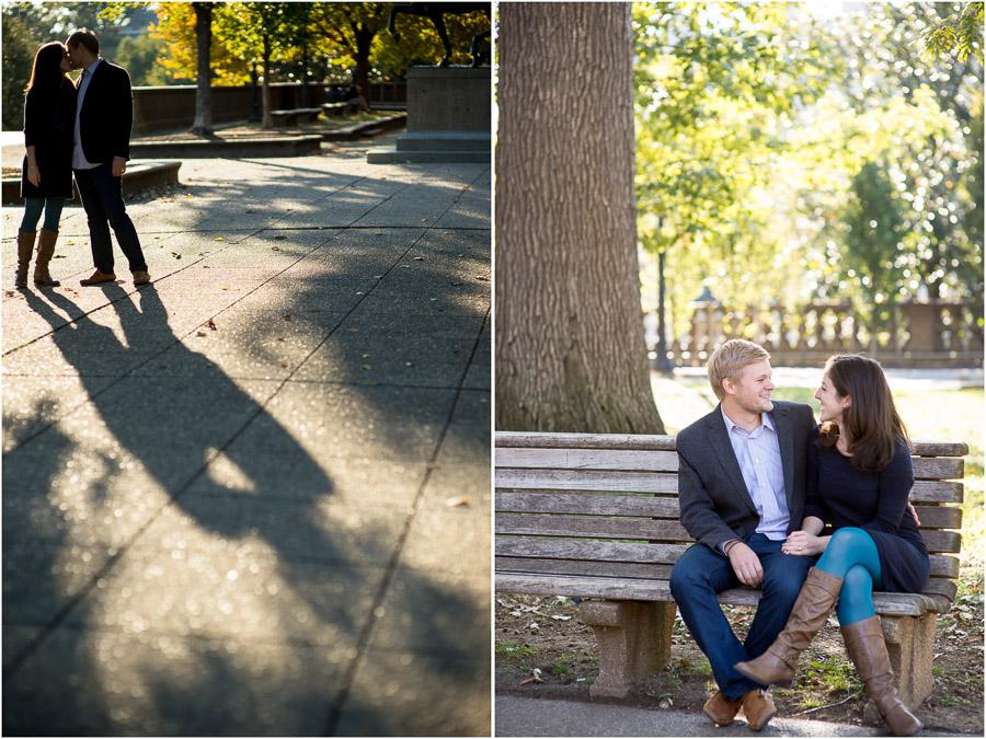 gorgeous engagement photos in Meridian Hill Park, DC