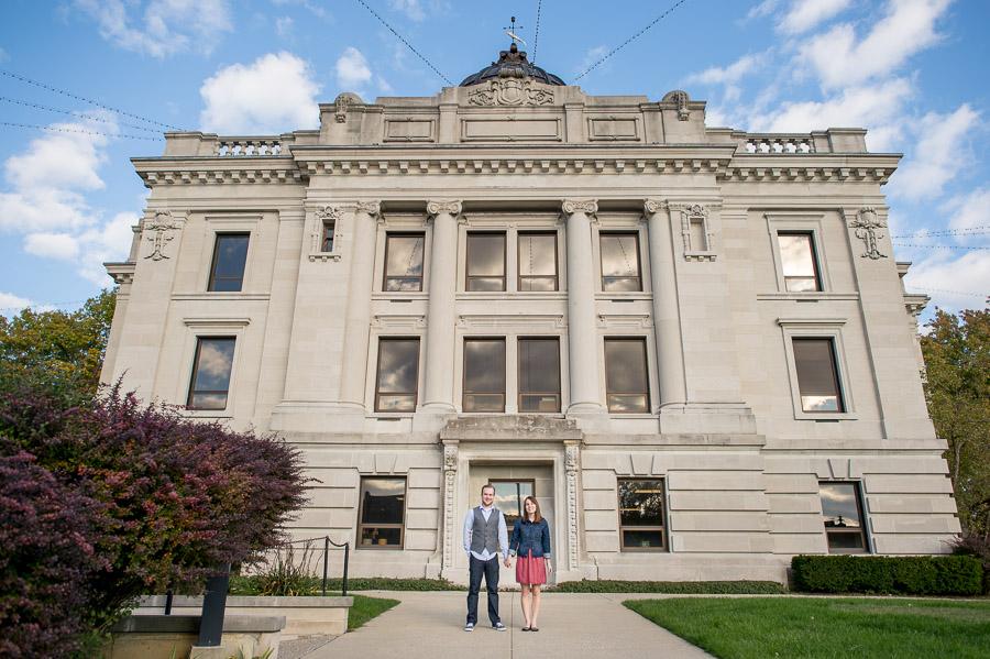 Bloomington Indiana Courthouse Engagement Photos