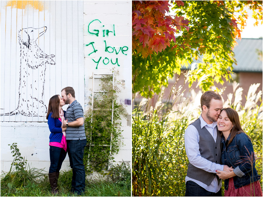 Fun and whimsical engagement photography Bloomington IN