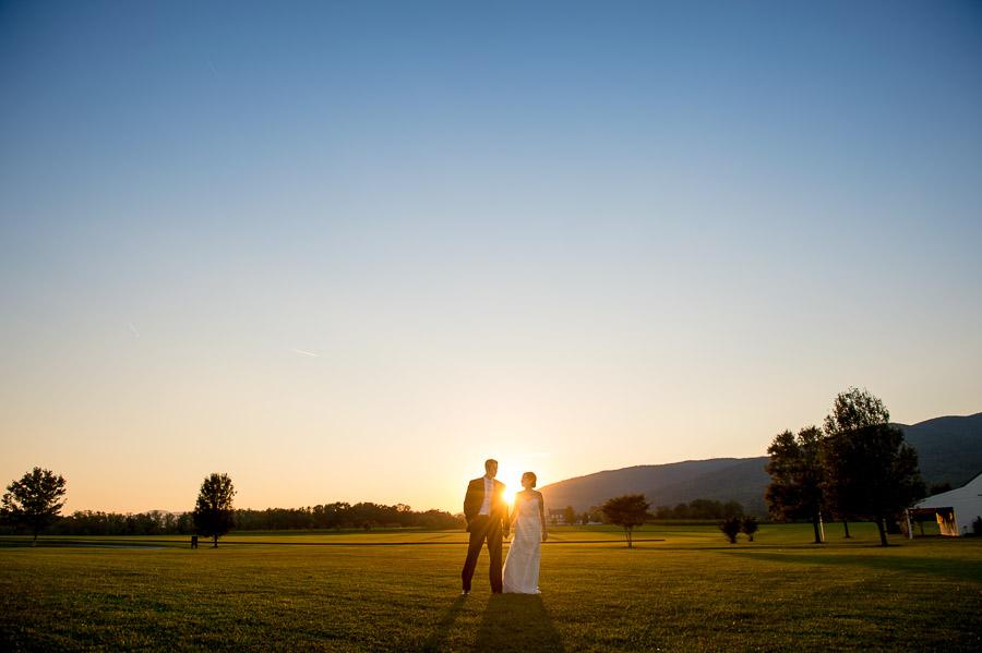 beautiful portrait of wedding couple at outdoor Charlottesville, Virginia wedding