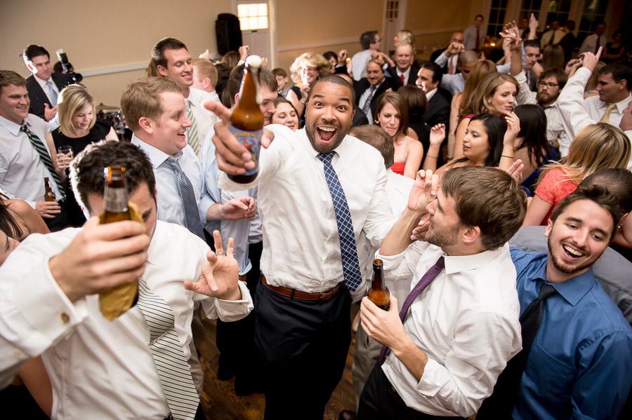 Awesome dance floor shot at King Family Vineyard wedding