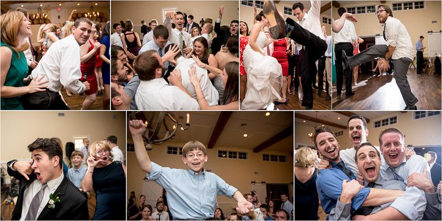 Hilarious, wild and rad dance floor pics at Charlottesville, VA wedding
