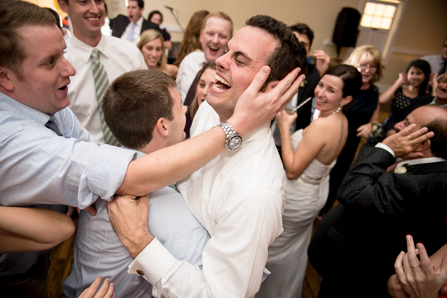 Funny dance floor moments at King Family Vineyard wedding