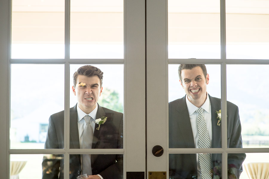 Hilarious silly candid moment from Charlottesville Virginia wedding