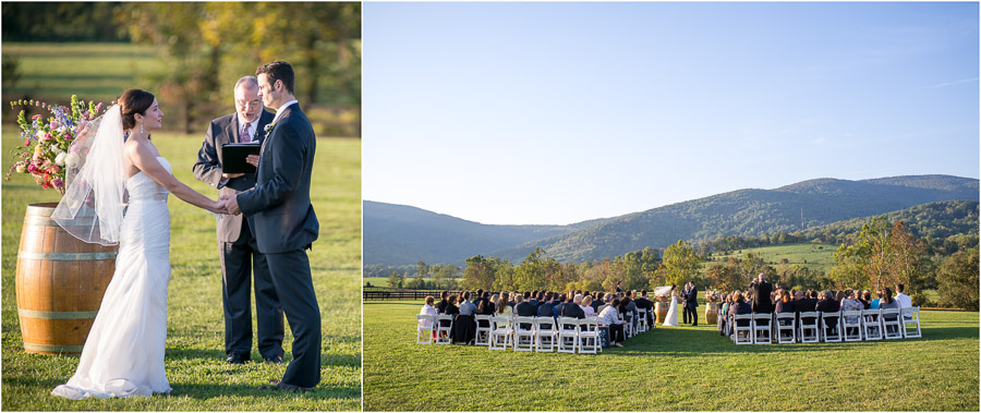 Touching, sweet and scenic wedding photo from outdoor fall wedding at King Family