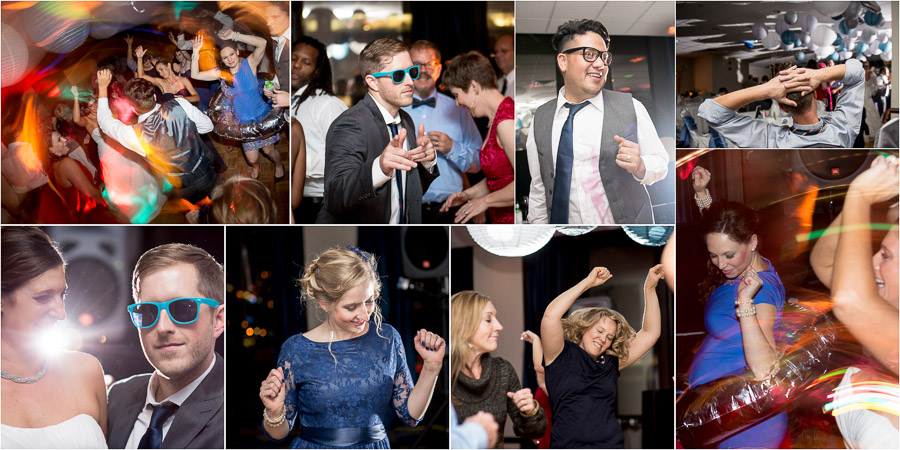 Hilarious, colorful, and wild dancing photos at Indy Wedding