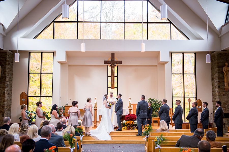 Beautiful ceremony photo from Brown County Indiana wedding